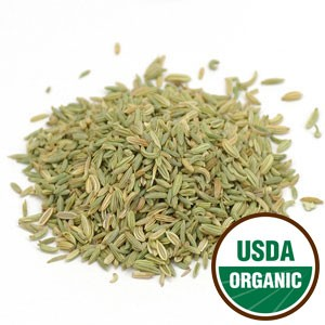 Fennel Seed Whole Cert. Organic, 2.00 oz pouch